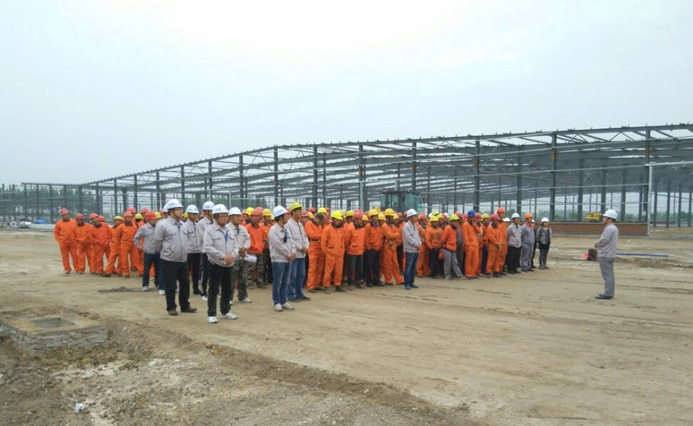 steel structure car storage warehouse