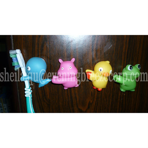 hot sale plastic suction cup toothbrush holder for kids / tooth brush holder