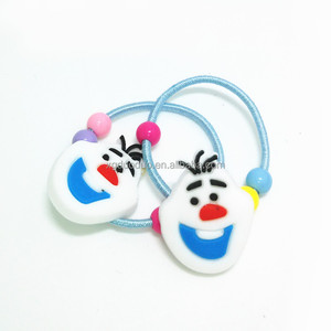 Funny Cute Face Shaped PVC Elastic Hair ties Soft Rubber Hair bands