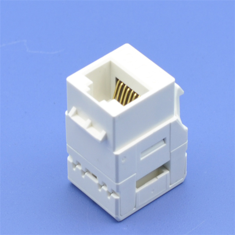 Well Priced rj45 cat5e cat6 utp amp 8p8c 90 degree female keystone jack