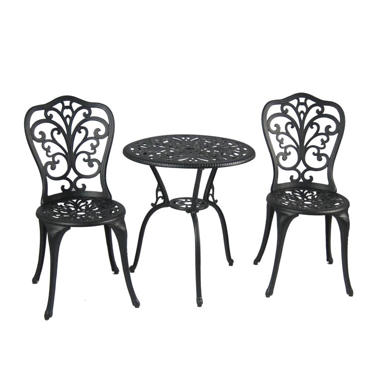 Patio garden cast aluminum Antique Bronze 3 Piece Bistro Set
