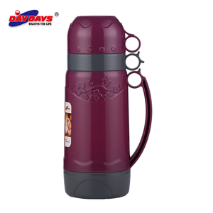 2 cups vacuum flask drinking plastic flask bottle