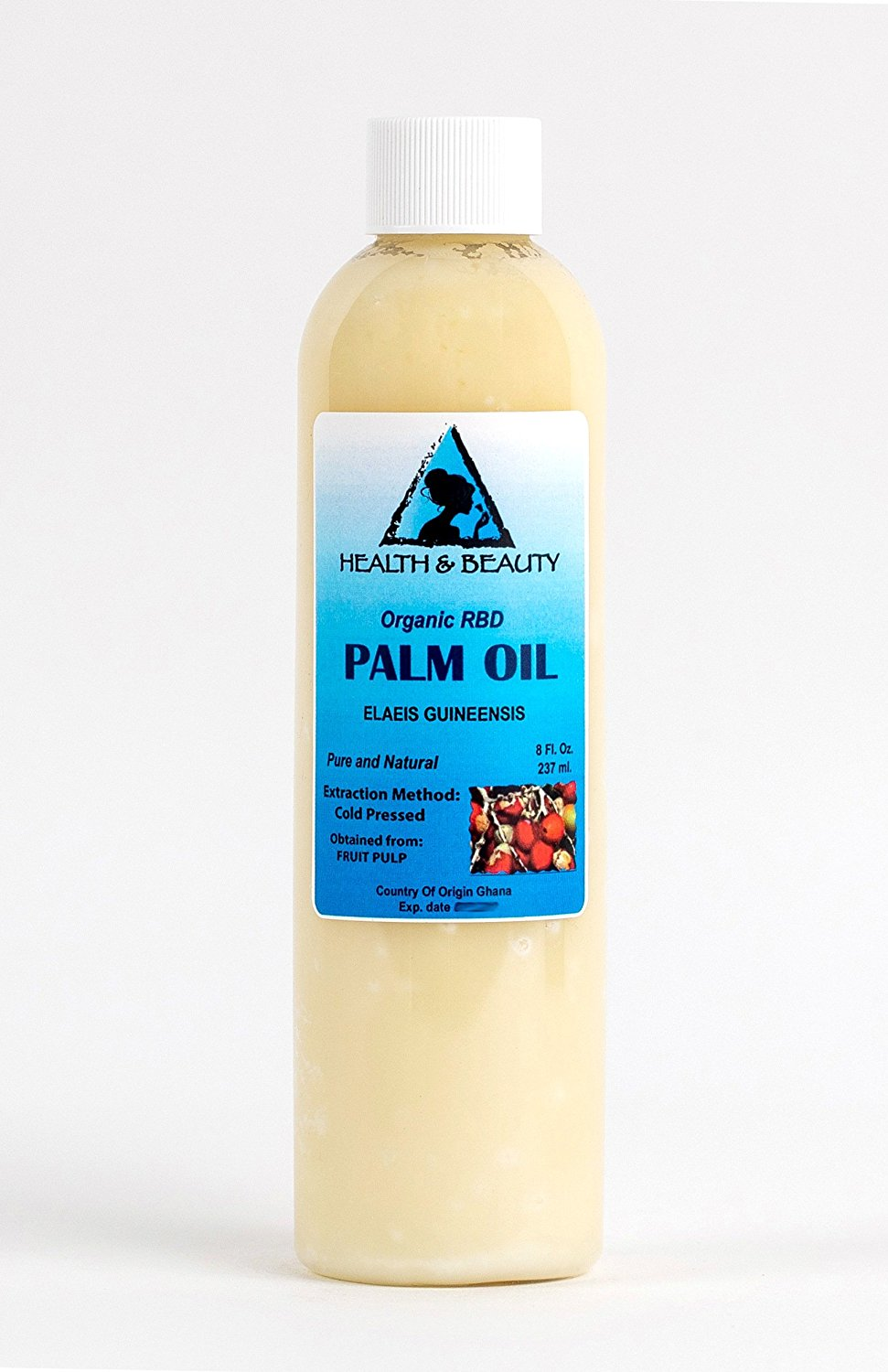 Palm Oil RBD Organic Carrier Cold Pressed Pure 8 oz