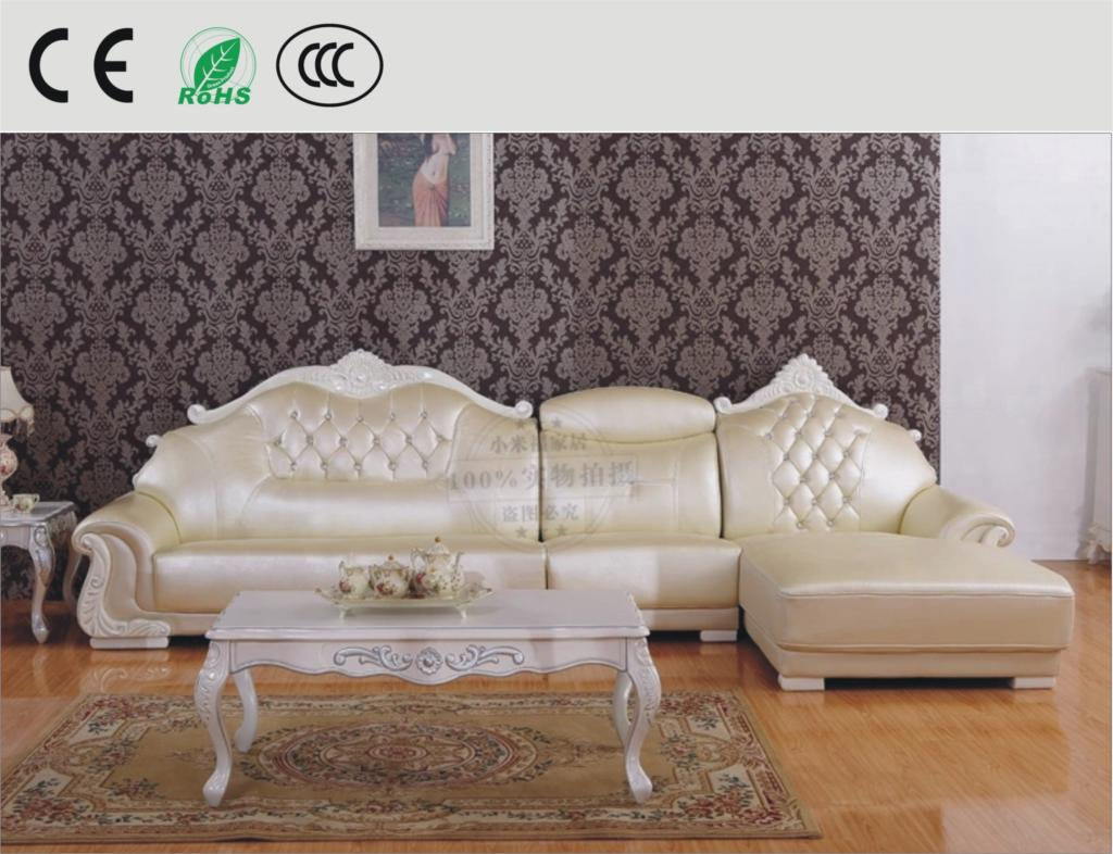 Cheap cowhide leather l shaped sofa continental sofa thick skinned size apartment living room - Apartment size living room furniture ...
