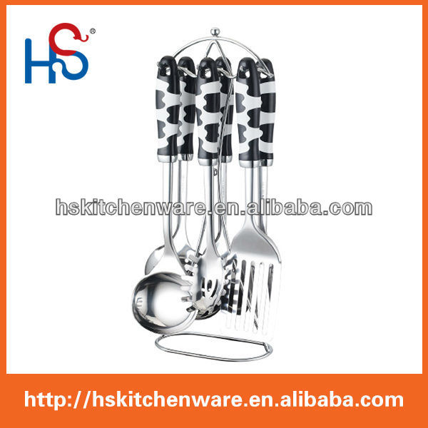 stainless steel 7-piece kitchen spoon stand for cooking HS8799S