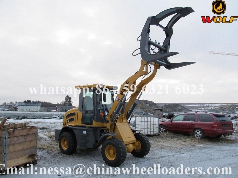 Qingdao Zongjin ZL12 mini loader with log grabber
