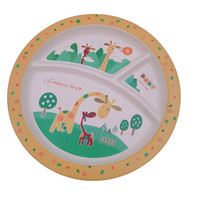 Reusable Biodegradable Disposable Dishes Plates Plate Kids Children Baby Dinnerware Dinner Set Bamboo Fiber Tableware Wholesale