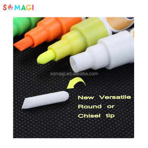 Alibaba Hot Selling Private Label Reversible Nibs White Liquid Chalk wet Erase Marker Pens