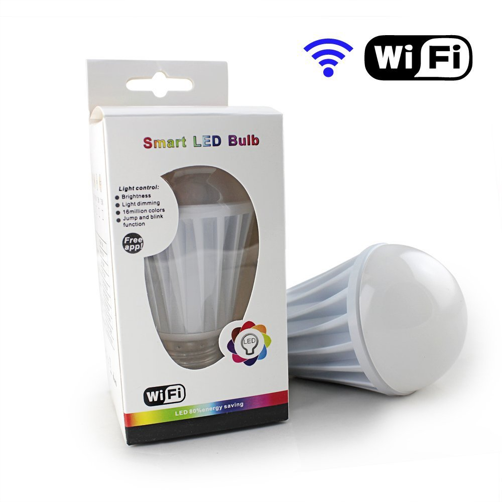 Internet Control! Wifi Controlled Rgb Led Bulb Light/wifi Rgb Led ...