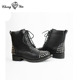 American European Style Wing Fly Motorcycle Boots Women
