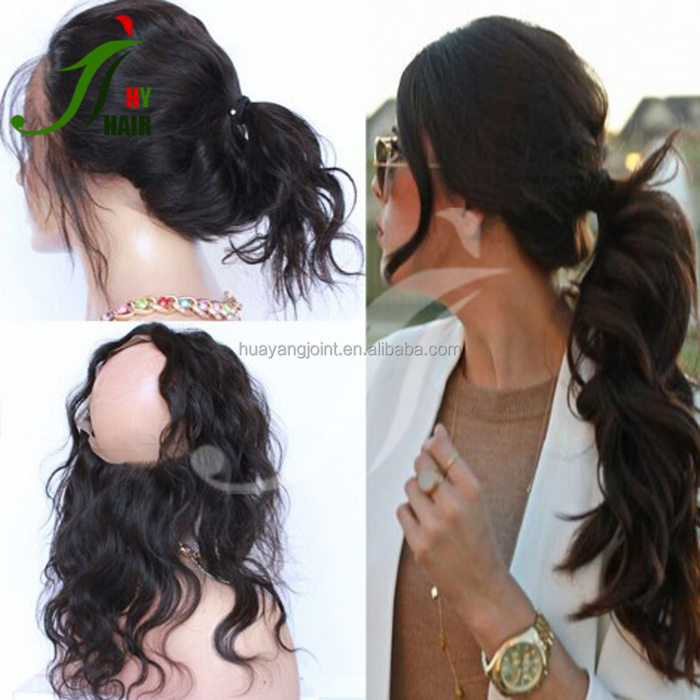 Top Good Quality Grade 7A Brazilian Human Virgin Hair 360 Full Lace Frontal Closure