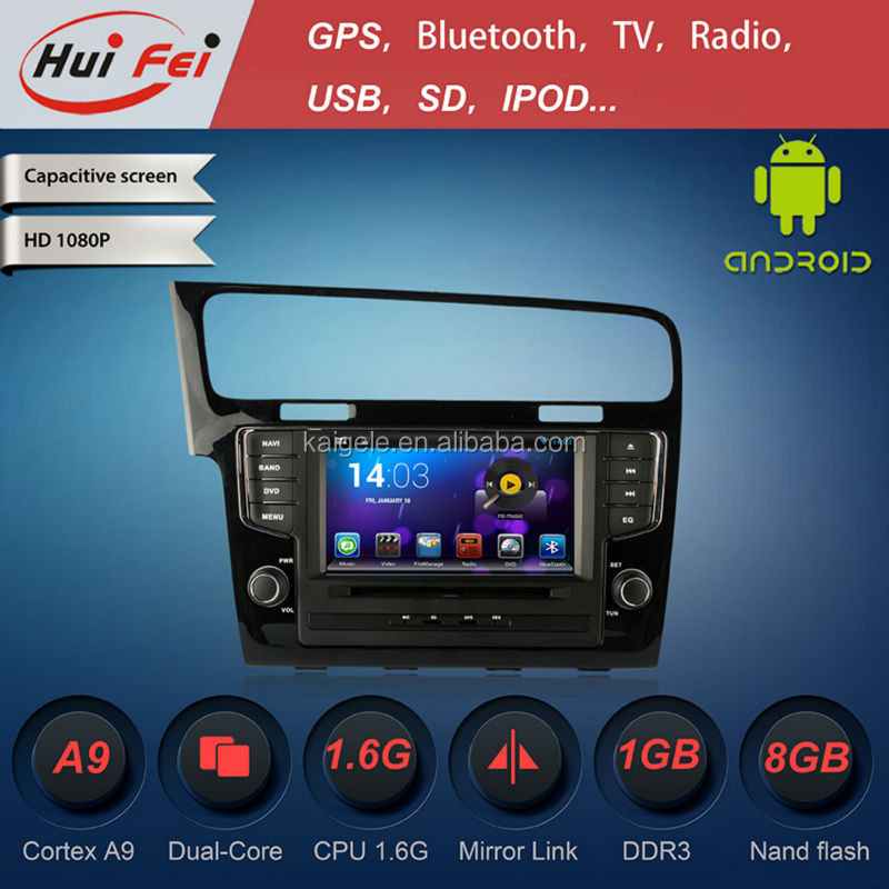 Huifei 1024 Android 4.2.2 Car Dvd Player For Vw Golf 7 Capacitive Touch Screen Obd2 Rk3066 A9 Dual Core Mirror Link