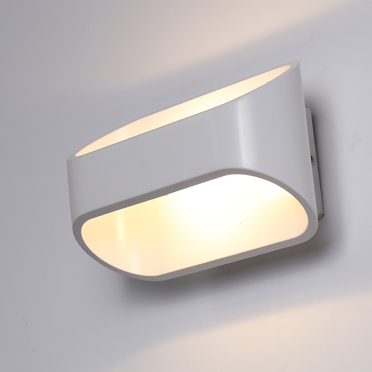 Modern Aluminum Pc White Ip20 Indoor Painting Decorative Up And Down Bedside Led Wall Light Lamp for Bedroom Living Room