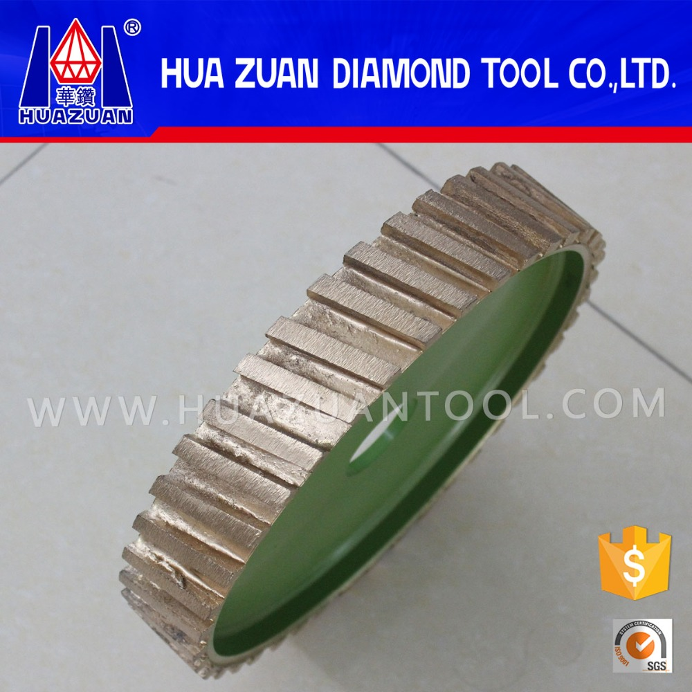diamond stone grinding/polishing wheel, segmented profile wheel for CNC machine