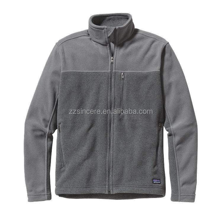 high collar zip-up polar fleece jacket with two pockets color gradual change jacket