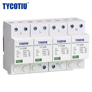 25kA 275V three phase 4P Type 1 Class I MOV 10/350 whole house surge protector with dry contact TY-25M 4P RS