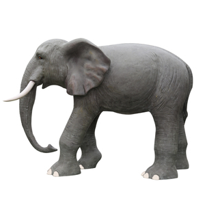 Custom outdoor resin elephant glass steel garden sculpture for sale