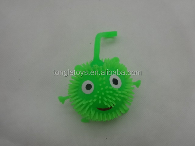 6cm smile face flash puffer ball