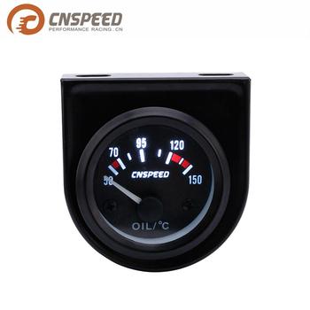 Cnspeed 52mm Racing Car Oil Temperature Gauge 50-150 Celsius Water Temp  Gauge With White Led Car Meter - Buy Lcd Car Gauges,Led Car Meter,Oil
