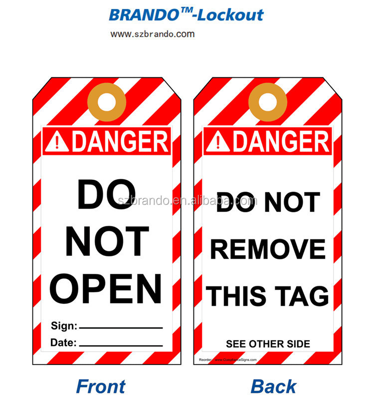 Padlocks Photo Identification Labels For Lockout Tagout