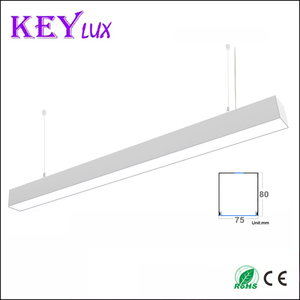 Modern suspended lighting 3ft 4ft 5ft connectable V Y L T shape connector led office chandelier