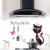 Dining Kitchen Decorative Wall Stickers Cooking Bench Waterproof Aluminum Foil Material Black Cat Princess Decals