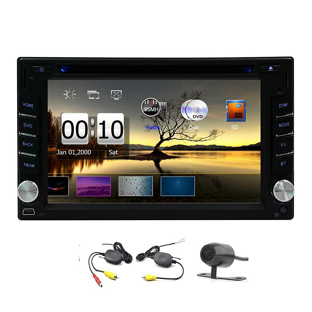 Free Wireless Back Camera + EinCar Navigation Seller-Hot Sale Universal Car Double 2 Din in Dash New UI GPS Navigation with Touch Screen Autoradio Bluetooth Video Audio Headunit& Free 8GB Map Card