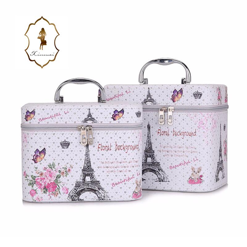e3dd9a1a5b Wholesale Custom Cosmetic Bag Set Cheap Cosmetic Makeup Train Case ...