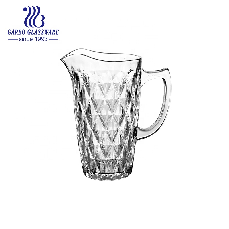 1500 ml Gravure Decoratieve Water Drinken Clear Glas Pitcher Met Handvat Sapkan GB1109DL-1