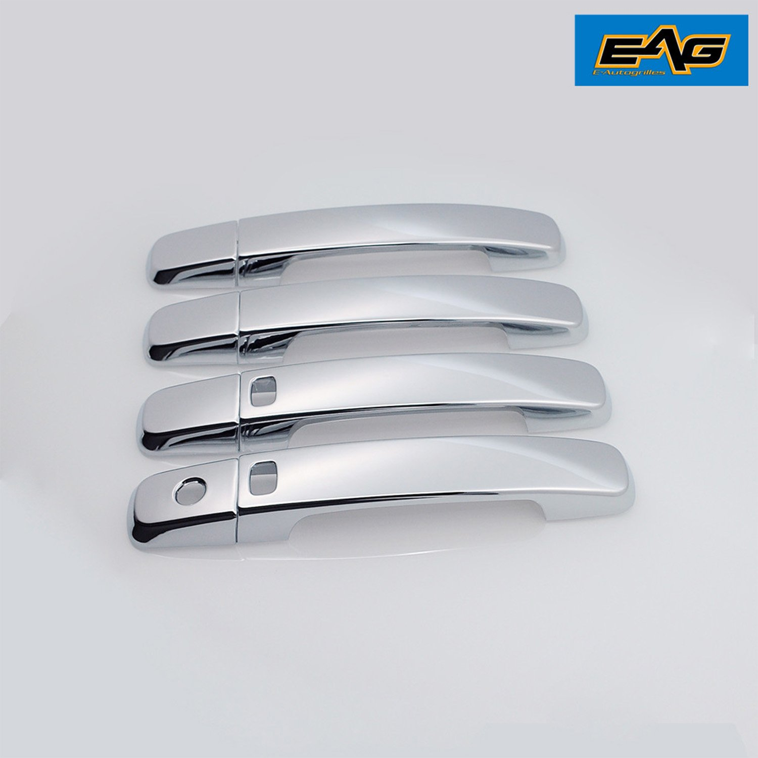 EAG 07-13 Nissan Altima/04-09 Nissan Quest/07-12 Nissan Sentra/04-08 Nissan Maxima 4 Door Handle Cover Triple Chrome Plated ABS with Smart Keyhole (64-0406)