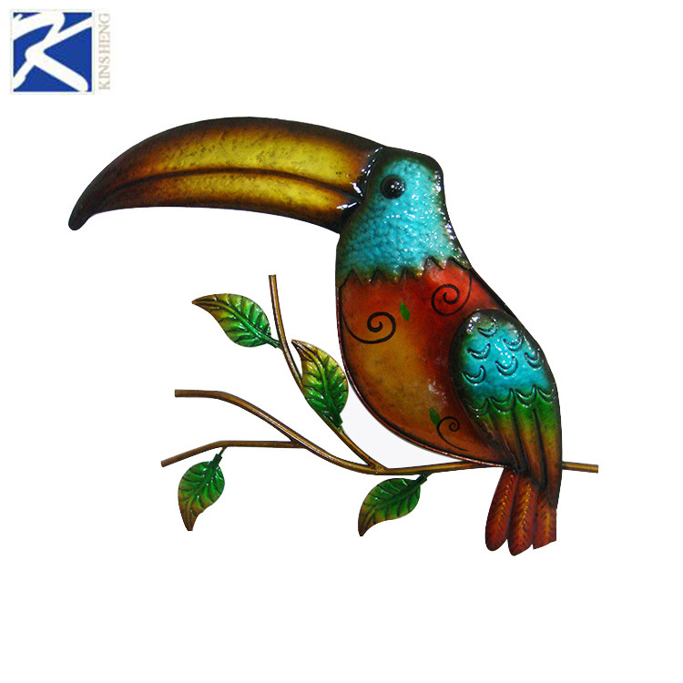 New style colorful metal toucan home wall decoration