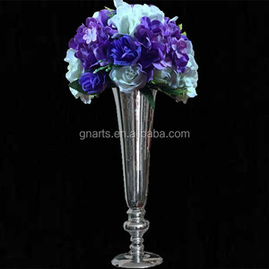 Wedding gold road lead flower table vase stand for wedding centerpiece decoration