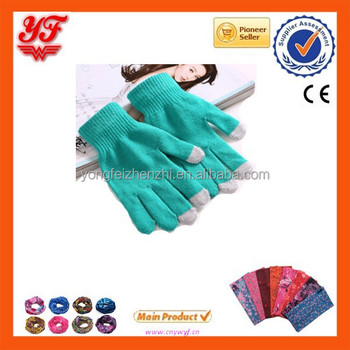 Fashion popular touch screen gloves for wholesales cheap warm gloves