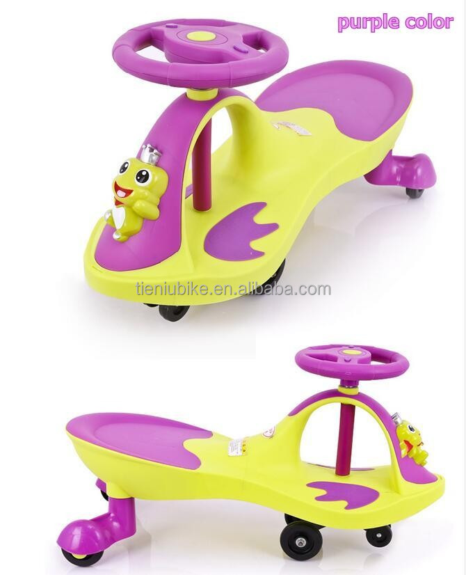 Yellow New Design Baby swing car kids twist car wiggle car toys for kids