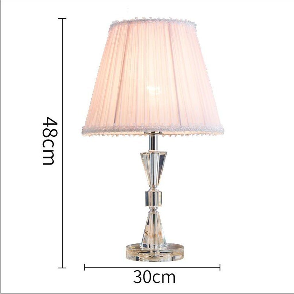 Le fu yan Bedroom Table Lamp Crystal Table Lamp Living Room Decoration Lamp (Color : White)