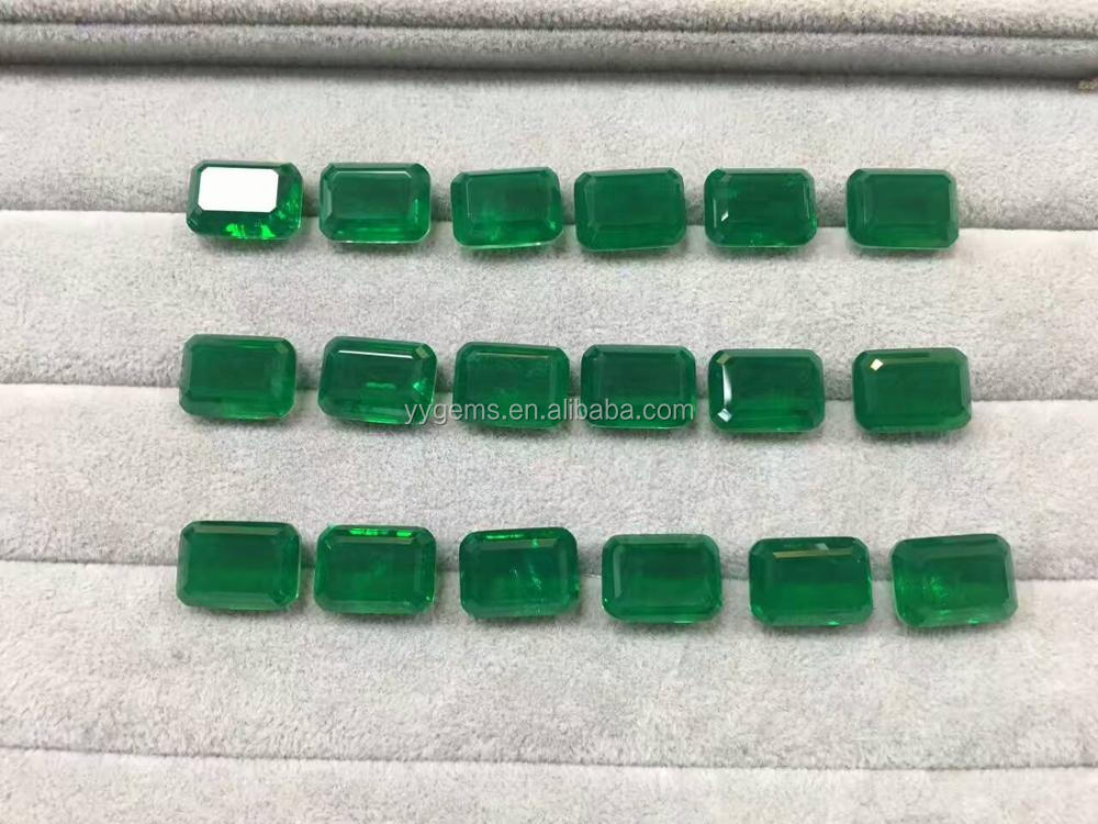 Factory Wholesale Emerald Cut Synthetic Colombian Emerald Price Per Carat