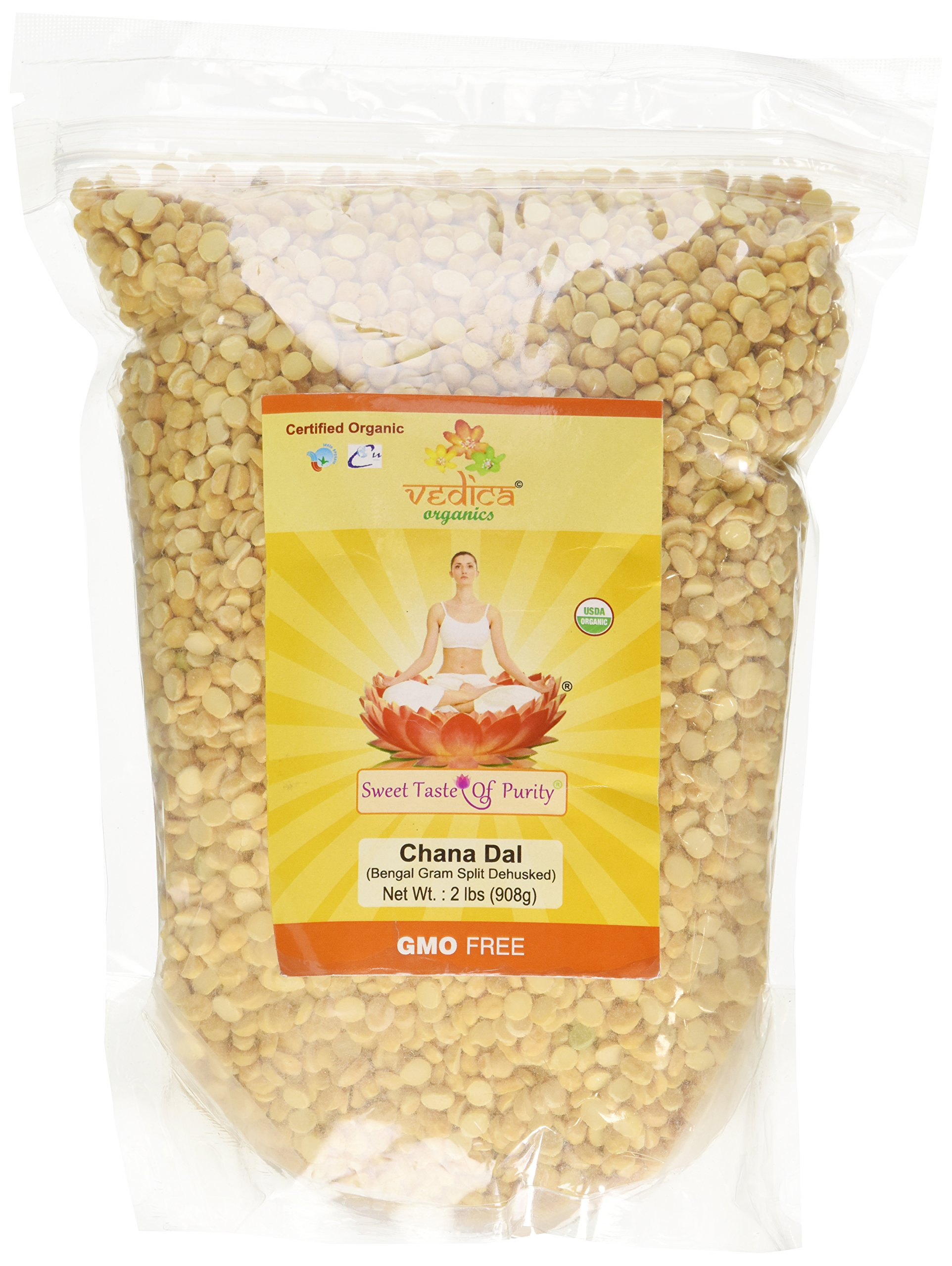 Organic Chana Dal (Bengal Gram Split Dehusked) (2 Lbs)