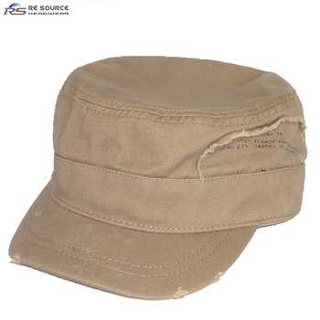 8c9131e2e9d63c blank washed destroyed vintage antique finish cotton army military hats caps