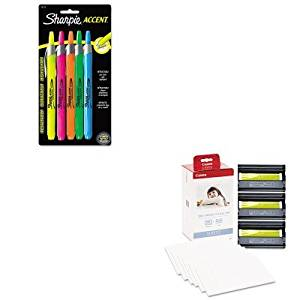 KITCNM3115B001SAN28175PP - Value Kit - Canon KP-108IN Color Ink Ribbon w/Glossy 4 x 6 Photo Paper Pack (CNM3115B001) and Sharpie Retractable Highlighters (SAN28175PP)