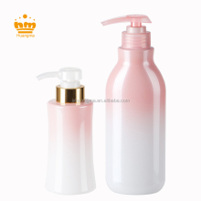 220ml 400ml Gradual Change Color Plastic Bottle for shamboo Packaging bottle