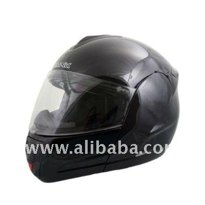 Advanced Hawk Gloss Black Dual Visor Full Face Motorcycle