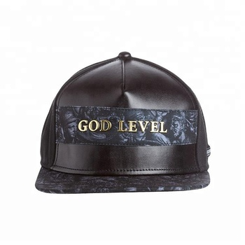 Customize Flat Bill Leather Hats Snap Back snapback Caps Wholesale Metal  Embroidery 5 Panel Hat - Buy Custom 5 Panel Hats 8abd004e93d