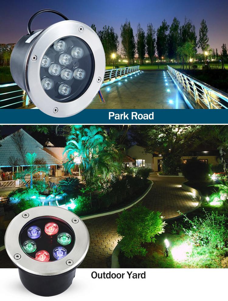 DMX RGB LED Inground Light 7W 9W 12W 15W 36W LED Underground Light