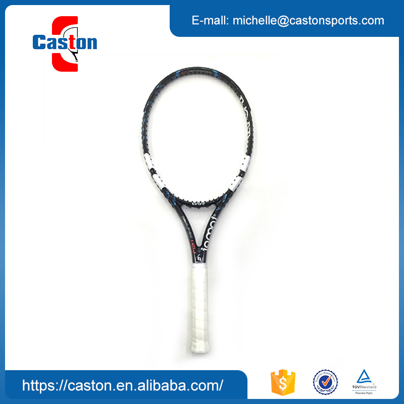 Factory hot sales white and black tennis racket with best quality