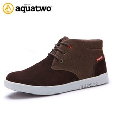 Alibaba Wholesale Aquatwo Brand 2017 New Fashion Boots For Men With Genuine Leather Upper