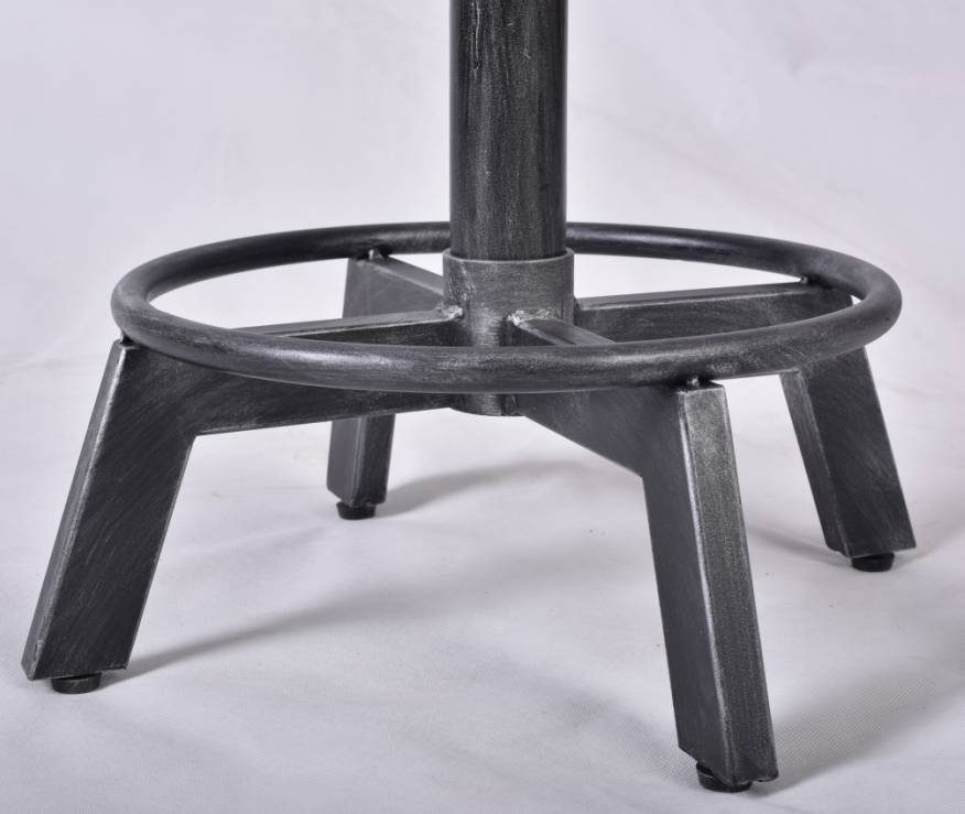 Factory rustic antique metal wooden top bar furniture  Stool