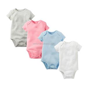 139cfe9b7768 Infant Kids Blank Plain Rompers