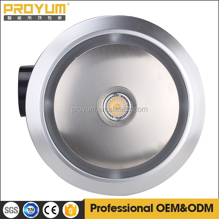 Round Shape Ceiling Mounted Bathroom Exhaust Fan With Halogen ...