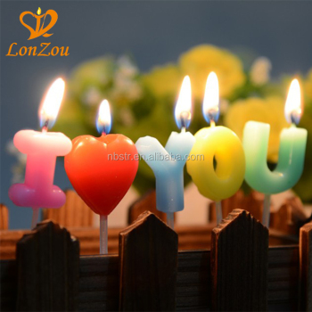 i love you alphabet letter candles unique wholesale birthday candles for party