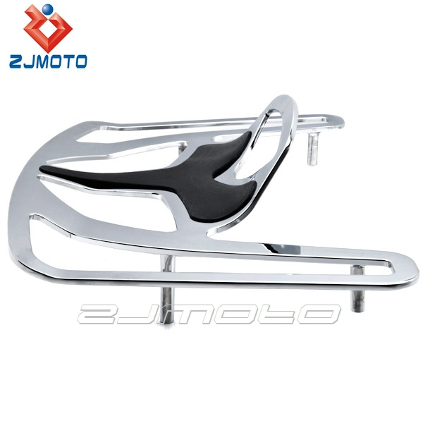 Hot Sale Good Quality ZJMOTO Motorcycle Luggage Rack Chrome Cargo Mount For Goldwing GL1800 Models 2007-2008 Except F6B